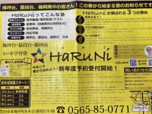 HaRuNiの授業を詳しく紹介します!【2/12チラシ】